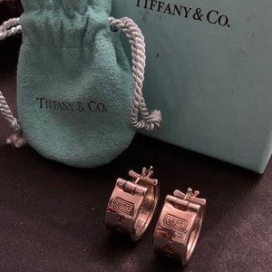 AUTHENTIC TIFFANY & CO. SILVER HOOP EARRINGS